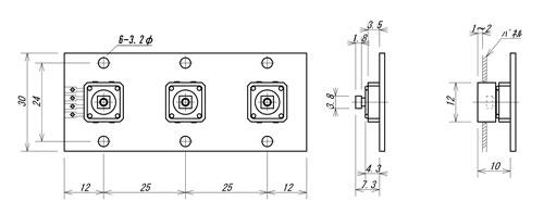 LC-3S外形寸法図